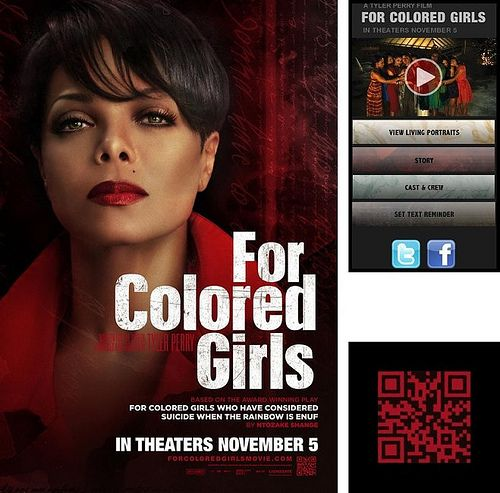 Janet Jackson + QR Codes = The For Colored Girls Movie Poster with ...