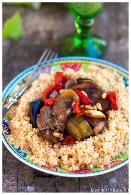 Tajine d'agneau aux pignons et légumes de saison #Meat #Viande #Cuisine #Cooking #Recette #Recipe #Agneau #Lamb