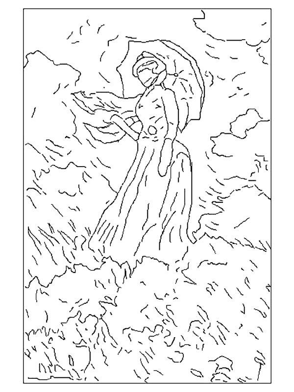 coloring pages of famous art google search - Artwork Coloring Pages