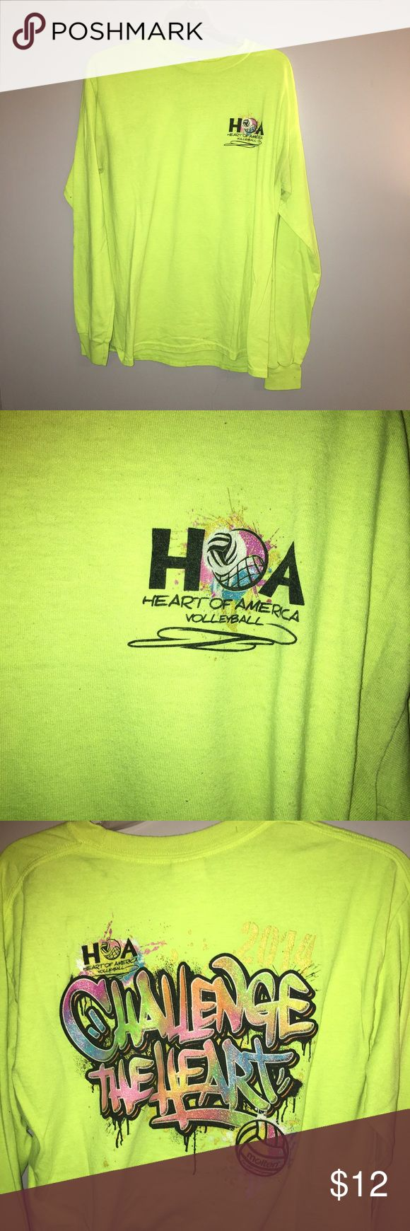 Heart of America Volleyball Tournament Tee This has only been worn a few times and is great for any volleyball players. I don't play anymore so I don't really want it anymore. Tops Tees - Long Sleeve