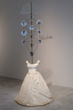 """Anselm Kiefer ~ """"Schechina"""" (""""Göttliche Anwesenheit""""). Divine Presence """"…five plaster dress sculptures from the series """"Women of Antiquity"""": """"Sapho"""" with books instead of the head, """"Phryne"""" with bricks and the """"Divinity"""" with the numbering system of the Kabbalah. """"Many poets are known only from the citations of men, """"which is why I left out the heads."""" ~ via Die Welt"""