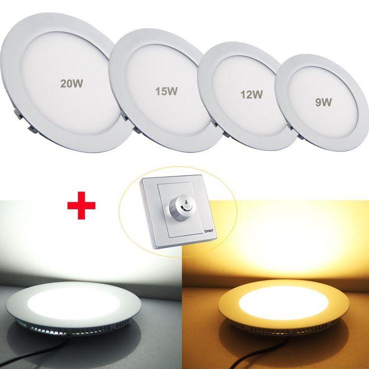 LED Panel Deckenleuchte Einbaustrahler Einbaulampe Rund Ultraslim dimmbar