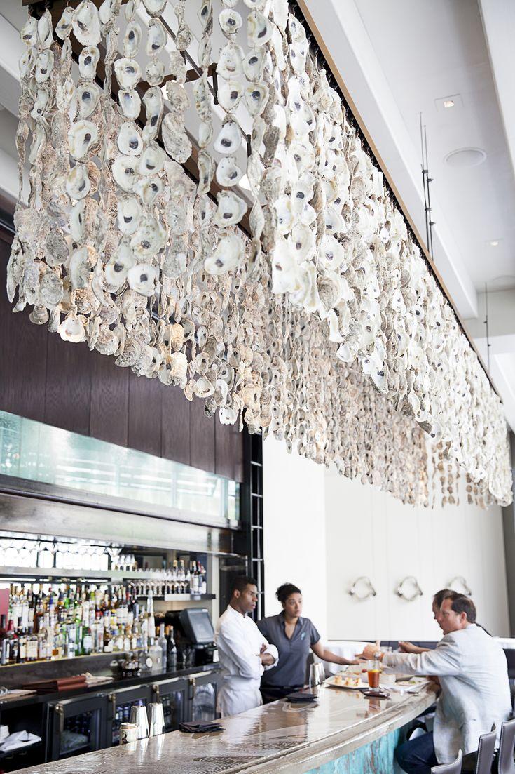 Waters, Bonnell's Coastal Cuisine - 2013 - oyster chandelier by preeninc