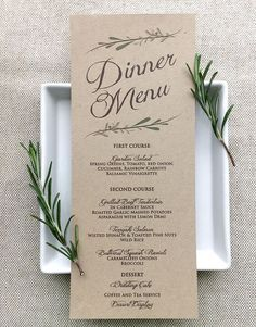 This Wedding Menu Card Matches The Rest Of Rustic Theme Shown In My Shop