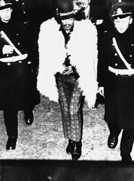4th January 1968. Jimi Hendrix arrested by Stockholm police for trashing a hotel room in fight with bassist, Noel Redding.