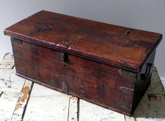 Vintage rustic workers storage box
