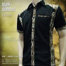 Hasil gambar untuk baju kerja batik kombinasi polos
