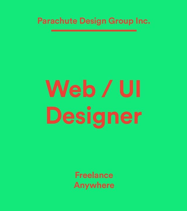 Wethemakersjobs Parachute Design Group Inc Is Currently Seeking Freelance Website Designers To Expand Their Design Jobs Freelancer Website Parachute Design