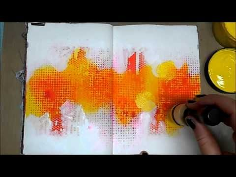 Mixed Media Art Journal Page #41 - YouTube