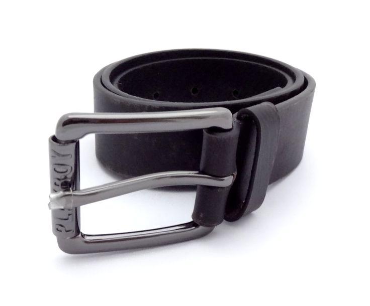Opasek Playboy Mens Leather Black