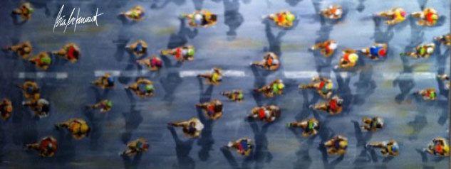 'Triathlon Sky View' (tríptico) - Bia Betan Bia Betancourt é uma artista plástica brasileira, que se desafia a captar o movimento, a energia e as cores e transmitir estas sensações em suas obras e arte conceitual. Suas telas, quadros abstratos ou figurativos, esculturas e painéis retratam a dinâmica de cenas do cotidiano, dos esportes, da dança e de tudo o que se mantém em movimento. A arte contemporânea e os traços de Bia criam um estilo único, em uma arte colorida e energizante que dialoga…