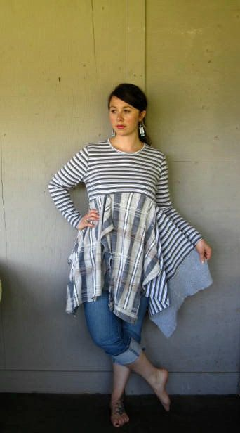 20 off Eco Patchwork upcycled clothing by lillienoradrygoods, $95.50