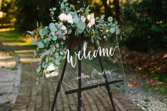 Wedding Welcome Sign  Wedding Signs  Acrylic by PaperandPineCo (Diy Wedding Signs)