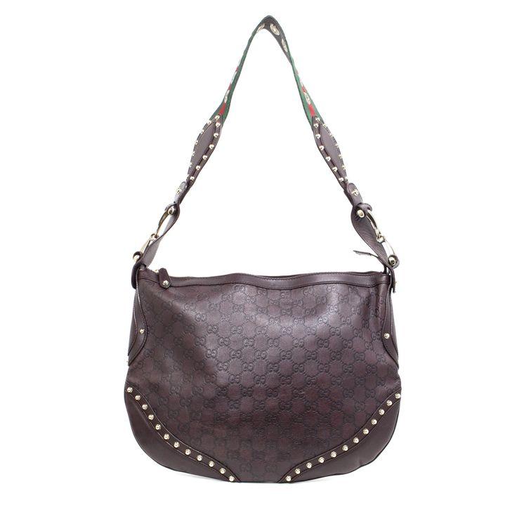 Gucci Brown Guccissima Pelham Shoulder bag - modaselle