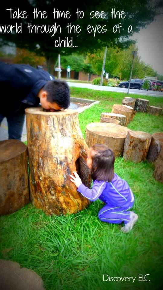 Take the time to see the world through the eyes of  a child… Discovery ELC ≈≈