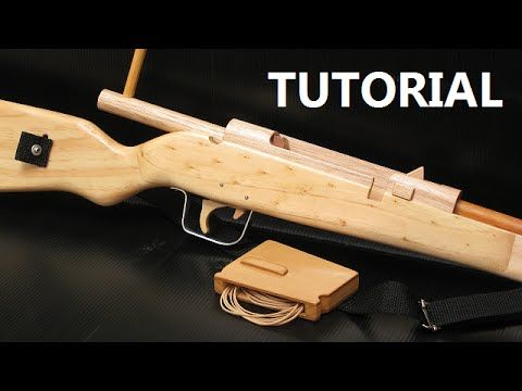 Bolt action rubber band gun - $5 plans and free tutorial - YouTube