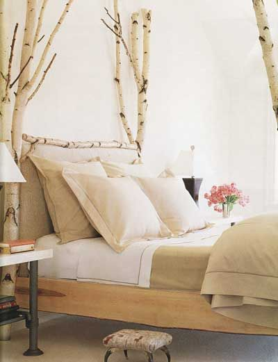 aspen bed: Birches Trees, Trees House Beds, Branches Beds, Beds Frames, Blog Ideas, Birches Branches, Four Poster Beds, Birches Beds, Beautiful Beds