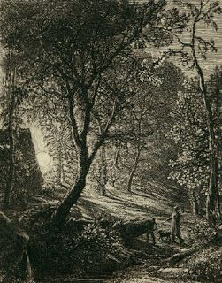 Samuel Palmer, The herdsman's Cottage, etching ( 1850)
