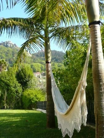 There is nothing like lounging in a hammock as the sun shines all around you and the view is breathtaking. #bedandbreakfast #casadovalle #Sintra #Portugal #relaxation #nature #hammock #sunshine