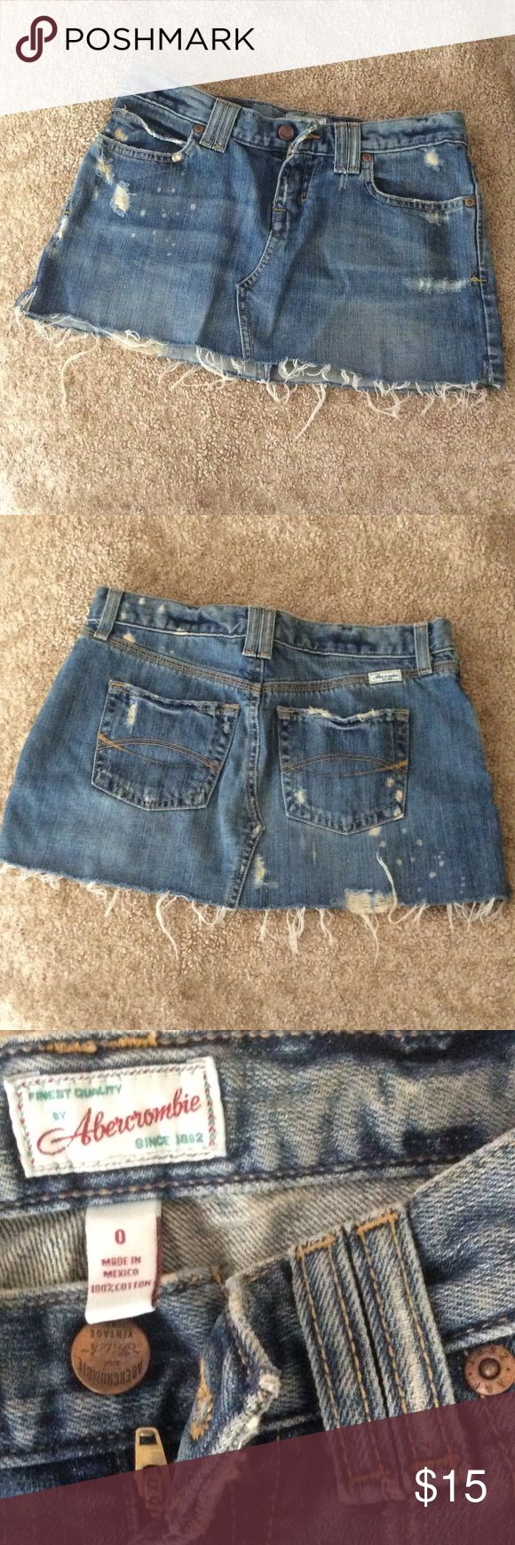 Abercrombie & Fitch distressed Jean skirt Abercrombie & Fitch distressed Jean skirt Abercrombie & Fitch Skirts Mini