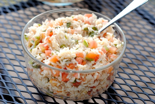 Healthy Fiesta Lime Brown Rice - mix pico de gallo with lime juice and ...