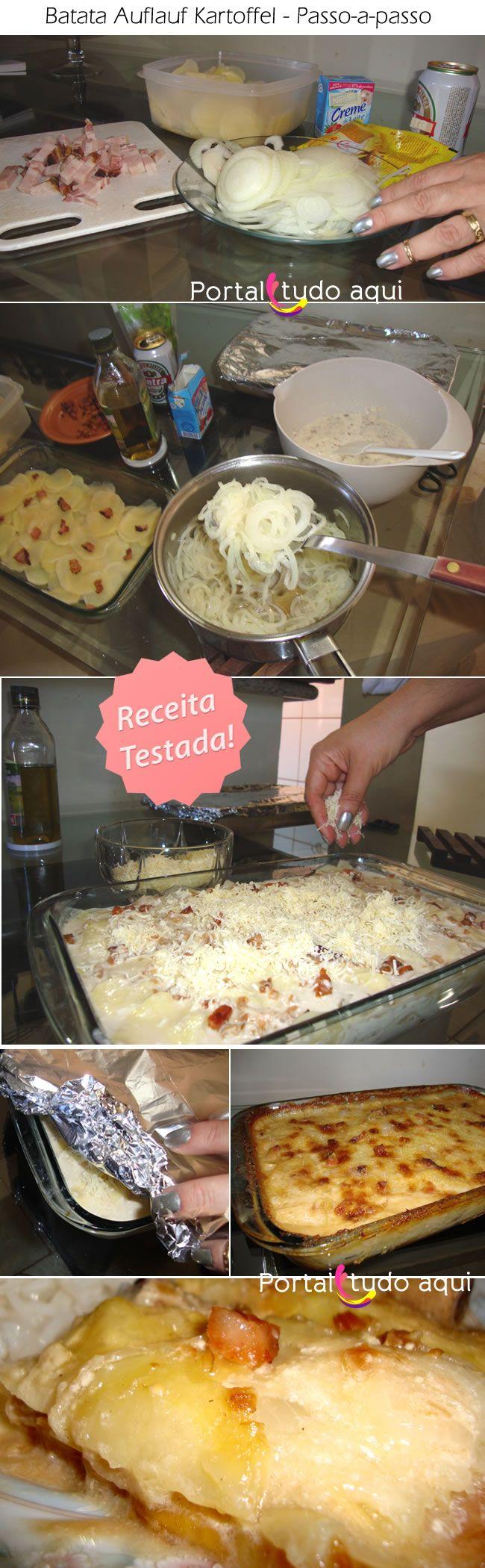 A Batata gratinada com cerveja e bacon ao molho creme de cebola, também conhecida como Auflauf Kartoffel , é uma receita alemã feita carinhosamente em um molho cremoso e envolvente de comer rezando! veja o passo-a-passo dessa delícia!
