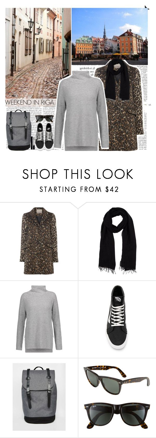 """""""My look for weekend in Riga"""" by helena99 ❤ liked on Polyvore featuring Vero Moda, Blue Les Copains, Vince, Vans, ASOS, Ray-Ban, Gucci, travel, animalprint and whatimwearing"""