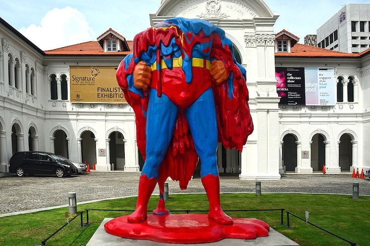 Superman melts at the Singapore Art Museum. Who can save us now?