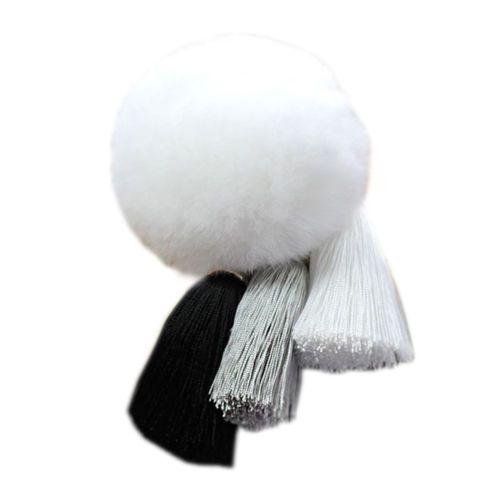 Novely-Pompom-Fur-ball-Bag-Pendant-Tassels-Car-key-Ring-Jewelry-Plush-keychain