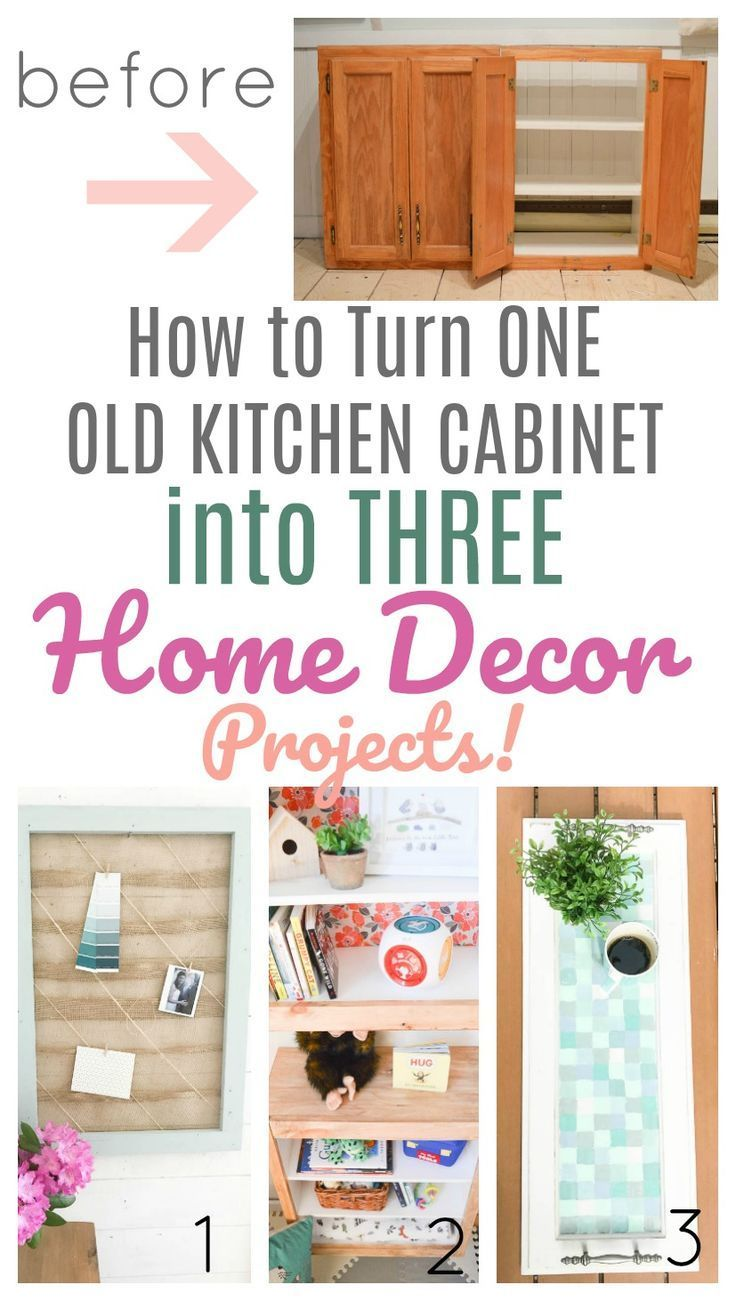 I Turned One Old Cabinet Into Three Home Decor Projects Diy Passion Diy Furniture Redo Home Office Furniture Design Old Kitchen Cabinets