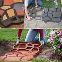 Stone Mold  DIY Pathmate Paving Pavement Concrete Stepping Stone Paver