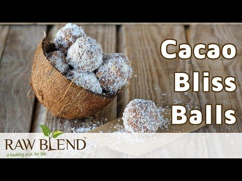 Cacao Bliss Balls Recipe - Raw Blend