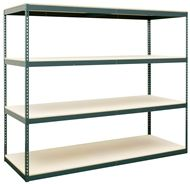 The Rivet System Series 4 boltless shelving unit can handle capacities up to 2,000 lb. per shelf and stands 7' tall. Single unit Rivet System Series 4 boltless shelves start at just $131.46. Order today! 1-800-966-3999 http://www.actionwp.com/series-4-rivet-system-boltless-shelving