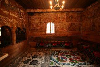 Interior of the wooden church from Budești Josani, Maramureș, Romania