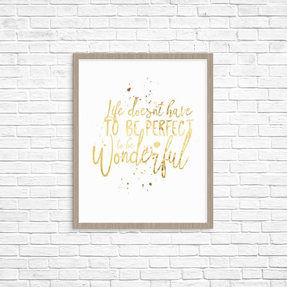 Gold Foil Prints - Inspirational Prints For Office - Real Foil Print - Office Decor - Typography Print - Foil Quote Prints - Home Decor