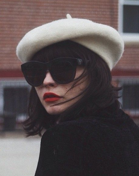 Beret- Paired with sunglasses and red lips, this looks very European/retro.