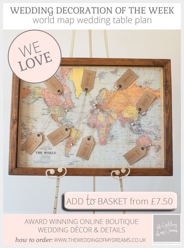 Travel Themed World Map Wedding Table Plan Available From Www