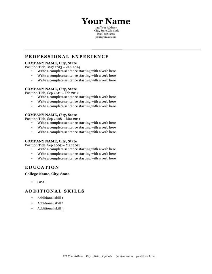 25 best Resume Genius Templates (Download) images on Pinterest - Fill In The Blank Resume Template