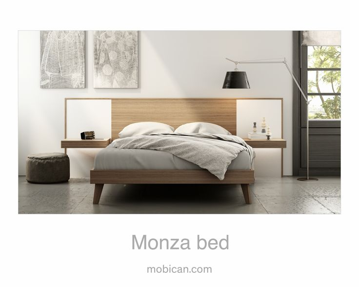 Click here to see Mobican's Monza bed with its lighted night tables | Cliquez ici pour voir le lit Monza de Mobican avec ses tables de nuit illuminées: http://mobican.com/monza/ #mobican #bed #madeincanada #nighttable #contemporary #furniture