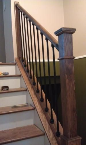 Best Stair Simple Axxys 8 Ft Stair Rail Kit Axhsr8B32I At The Home Depot Banister Remodel 640 x 480