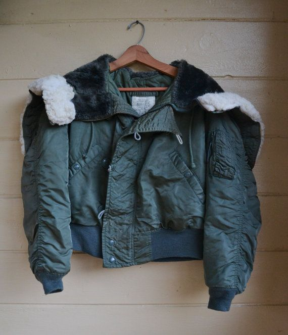 Vintage Flight Jacket Alpha Industries N2B by founditinatlanta, $60.00