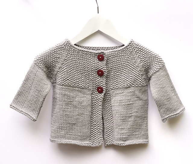 Free Knitting Pattern Garter Stitch Baby Cardigan : 17 Best images about Tejido: Inspiracion on Pinterest ...