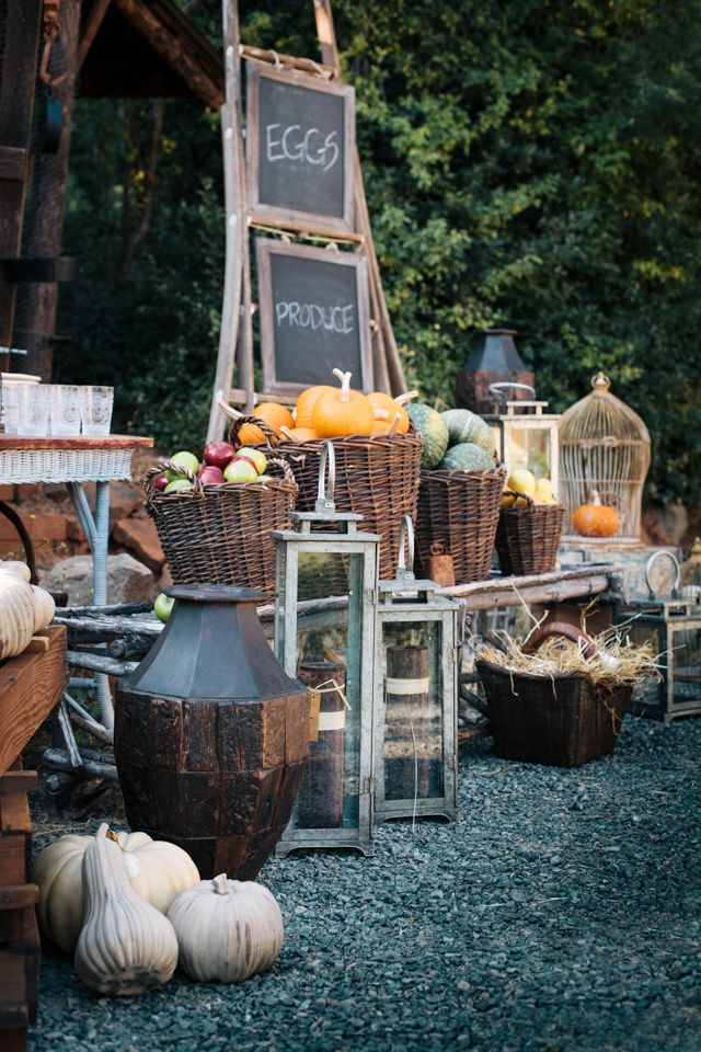 Revamp your farmers market stand with rustic and vintage finds from High Camp Home.