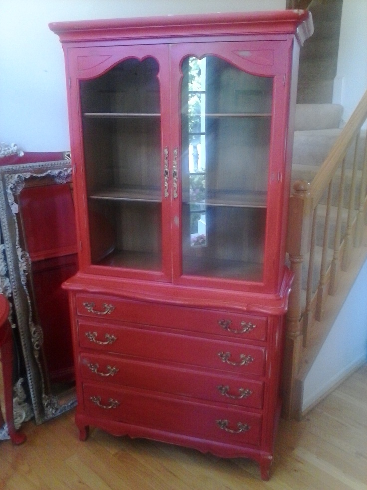 Pictures Of Furniture Painted Red