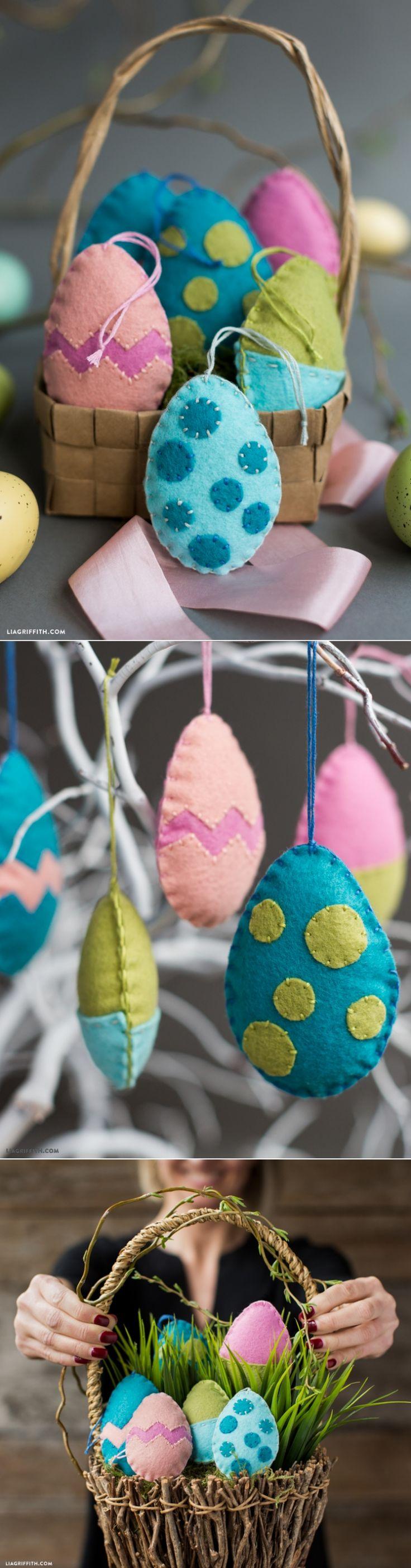 #feltcraft #Eastereggs #felteggs #Easterdecorations www.LiaGriffith.com: