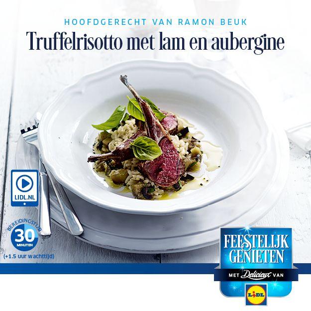 #Recept voor Truffelrisotto met lam en aubergine #Lidl #Recept #Risotto #Kerst