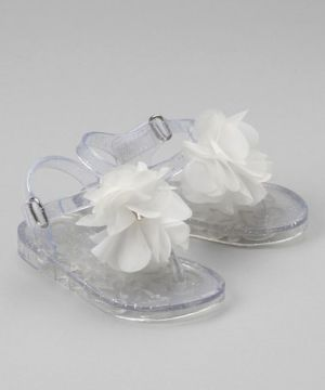 ddaf0199d536 just order these for k ) Take a look at this Clear Flower Sandal by Stepping  Stones on  zulily today! by Viziv