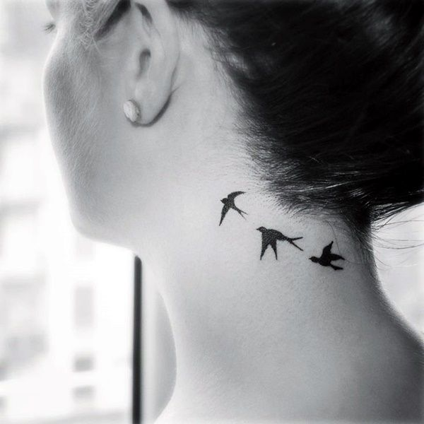 40 Small and Sexy Neck Tattoos For 2016 - Bored Art