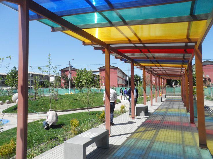 Plaza barrio Vicuña Mackenna. Rancagua, región de O´Higgins, 2014. Junto a equipo MINVU región de O´Higgins