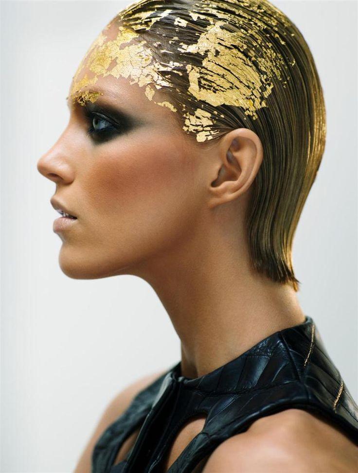 72 best images about goldleaf makeup ideas on pinterest gold leaf eyes and avant garde makeup. Black Bedroom Furniture Sets. Home Design Ideas